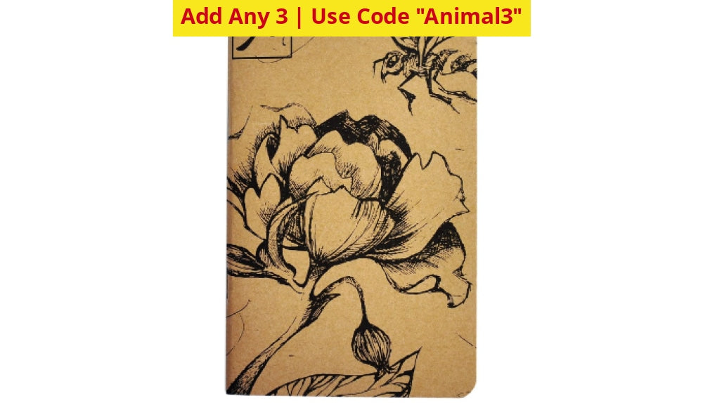 Buy 1 Get 2 Free: Endangered Species Notebook Pocket Book - Ships Quick! Bees Home