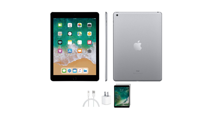 PRICE DROP: Apple iPad 5 32GB Space Gray Wifi Bundle (Refurbished) - Ships Quick!