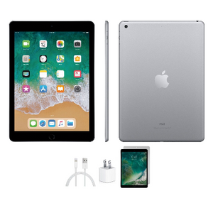 Apple iPad 5 32GB Space Gray Wifi Bundle (Refurbished) - Ships Quick!