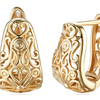 14K Gold Plating Filigree Laser Cut Earrings
