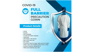 80 Count: Premium Reusable Washable Medical Isolation Gowns (Level 3-4) - Ships Next Day!