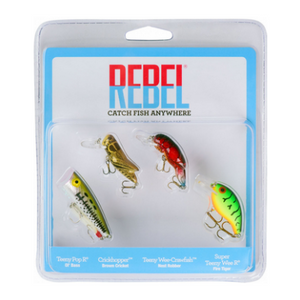 Rebel Classic Critters 4-Piece Fishling Lures Variety Pack - Ships Quick!