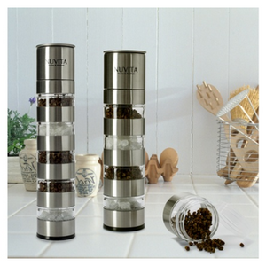 Nuvita Premium Stainless Steel Stackable Mini Salt and Pepper Mill