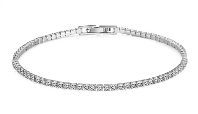 8.00 CTTW White Swarovski Elements Tennis Bracelet in 18K Gold Plating - 3 Options