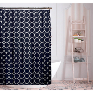 "Geometric-Patterned 70"" x 72"" Shower Curtain - Assorted Colors - Ships Quick!"