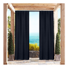 Set of 2: Energy-Saving Xyleena Textured Indoor/Outdoor Blackout Curtains Set