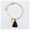 Egyptian Design Gold Ingrain Black Tassel 3 Piece Set