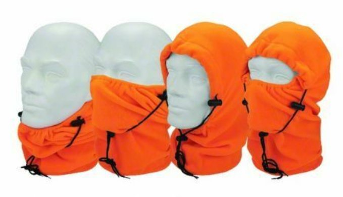 2 Pack: Hot Shot Fleece 4-in-1 Hood Neck Gaiter Mask - Ships Quickly!