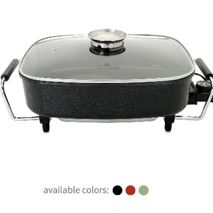 PRICE DROP: Paula Deen 15-inch (1400 Watt) Large Electric Skillet with Glass, Basting Lid