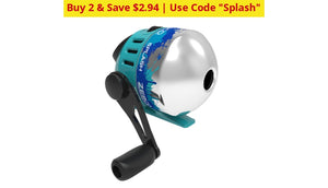 Zebco Splash Spincast Reels - Great For Kids And Rokie Fisherman Ships Quick! Blue Home