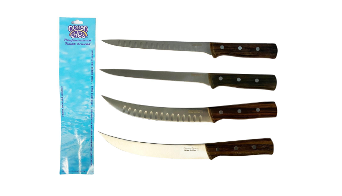 1Sale Exclusive: 4 Pack: Ocean Eyes Skillet Knives - Ships Quick!
