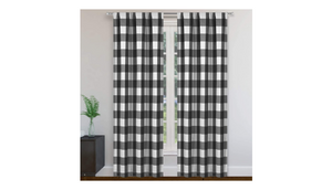 "2-Panel Set: Blackout 365 Langston Buffalo Checkered Blackout Curtains, 37"" W x 84"" L - Ships Quick!"