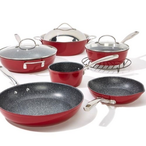 Curtis Stone Dura-Pan Nonstick 10-piece Chef's Cookware Set (Open Box) - Ships Quick!