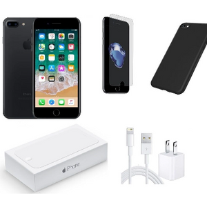 Apple iPhone 7 128GB Black Unlocked Bundle (Refurbished) - Ships Quick!