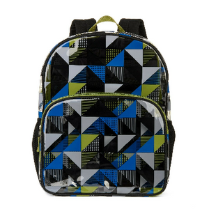 Wonder Nation Clear Children's Backpack, Geometric Pattern - Ships Quick!