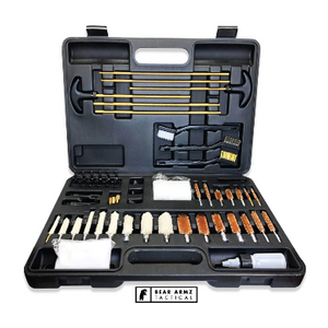 Universal Gun Cleaning Kit | American Company | Perfect for Shotguns, Rifles, Muzzle Loaders, Handguns and Pistols | Portable Case | Cleans Calibers .17- .50