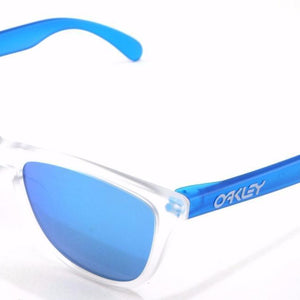 Oakley Frogskins Colorblock Collection Clear/Blue Sunglasses (OO9245-5154)