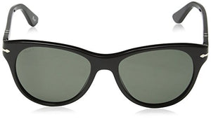 Persol Polarized Black Crystal Green Sunglasses