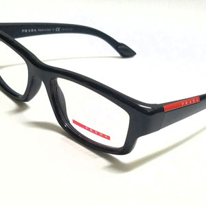 Prada Sport Black RX Prescription Eyeglasses (PS02EV 1AB1O1 52mm)