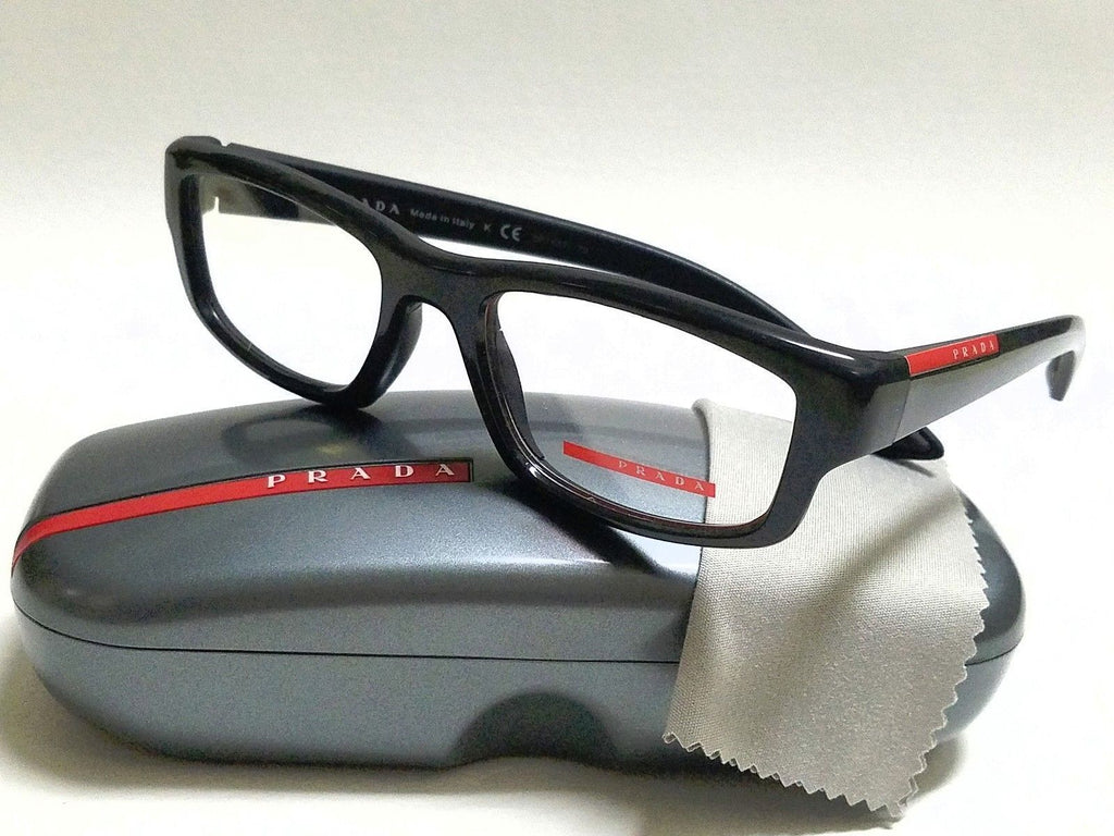 07875fce6e Prada Sport Black RX Prescription Eyeglasses (PS02EV 1AB1O1 52mm ...