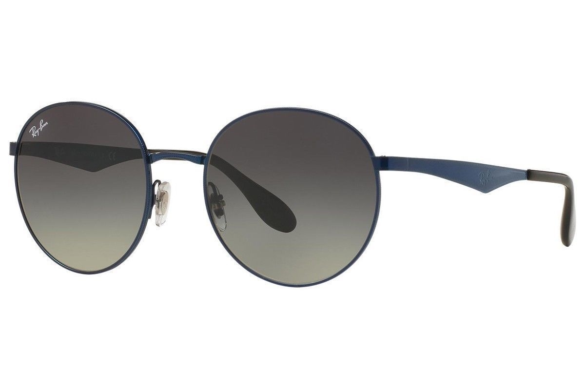 Ray-Ban Blue / Grey Round Sunglasses (RB3537 185/11 51MM)