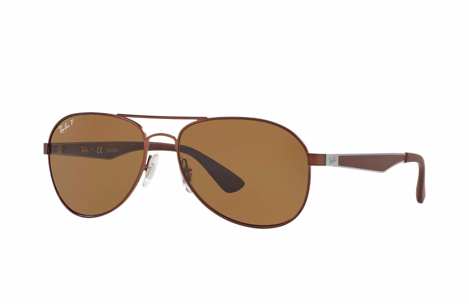 Ray-Ban Polarized Brown Sunglasses (RB3549 012/83 58mm)