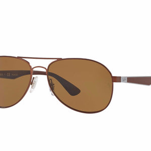 e152d6ae33436 Ray-Ban Polarized Brown Sunglasses (RB3549 012 83 58mm)