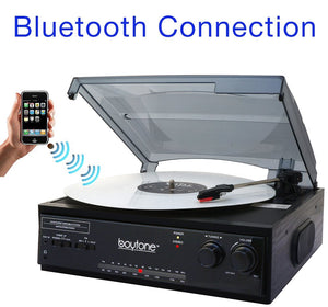 HUGE PRICE DROP: Boytone Bluetooth Stereo Turntable w/ 2 built in Speakers & AM/FM Radio