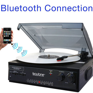BACK IN STOCK: Boytone Bluetooth Stereo Turntable w/ 2 built in Speakers & AM/FM Radio