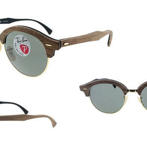 33f93a01c33 Ray-Ban Polarized CLUBMASTER Wood Classic G-15 Sunglasses (RB4246M 118158)