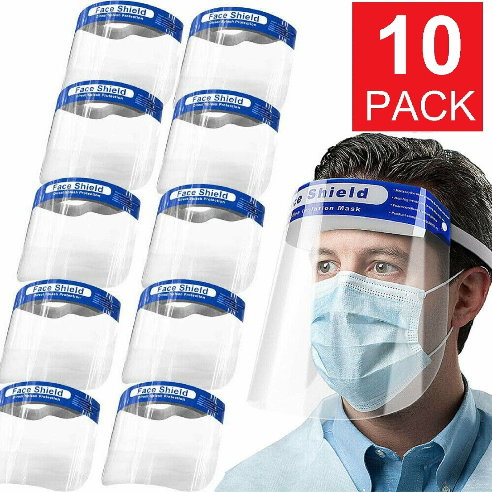 LOWEST EVER: Reusable Face Shield US Warehouse Blowout - Protective and Great for Adults & Kids - Ships Out Same/Next Day!