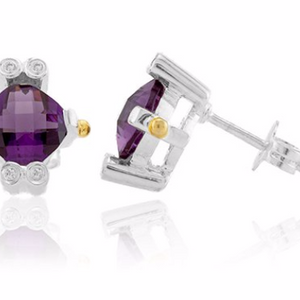 Amethyst Lavale Earrings - Ships Quick!