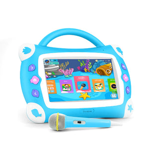 "Kids Sing Pad 7"" Quad Core 16GB Tablet W/ Microphone - Ships Next Business Day!"