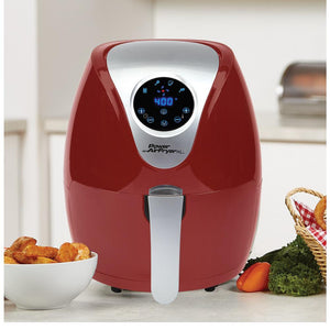 Lowest Price Ever: Power Xl 2.4-Qt Digital 1200W Air Fryer With Recipes And Divider (Renewed) Home
