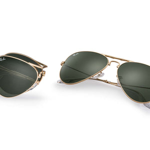 Ray-Ban Aviator Folding Sunglasses Green/Gold RB3479 58mm