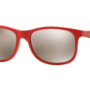 Ray-Ban Andy Red Coral Mirror Sunglasses (RB4202 6155/5A 55mm)