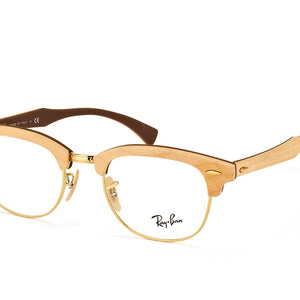 Ray-Ban Clubmaster Wood Maple Gold Eyeglasses (RX5154M 5558 51mm)