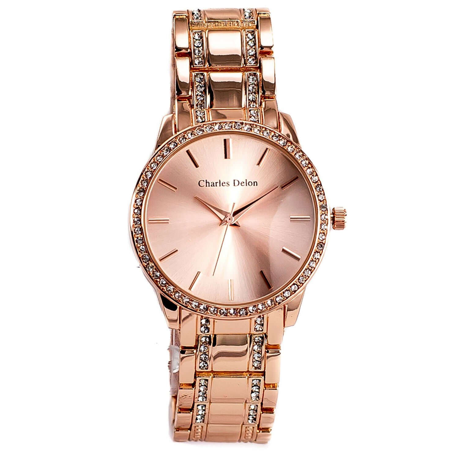 Charles Delon Women's Stainless Steel Quartz Watch (6 Styles Available) - Ships Same Day!