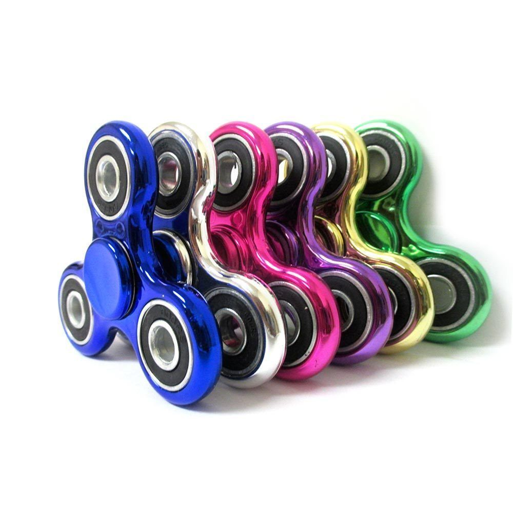 6 PACK: Metallic Fidget Spinners