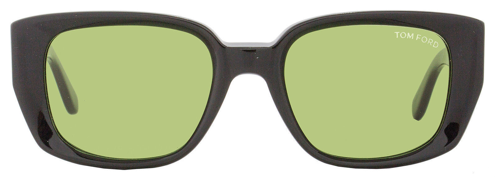 TOM FORD Raphael Black/Green Rectangular Sunglasses (T492 01N 52MM)
