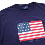 Ralph Lauren Flag Retro Tee - Thriftfinds, NZ Vintage clothing store