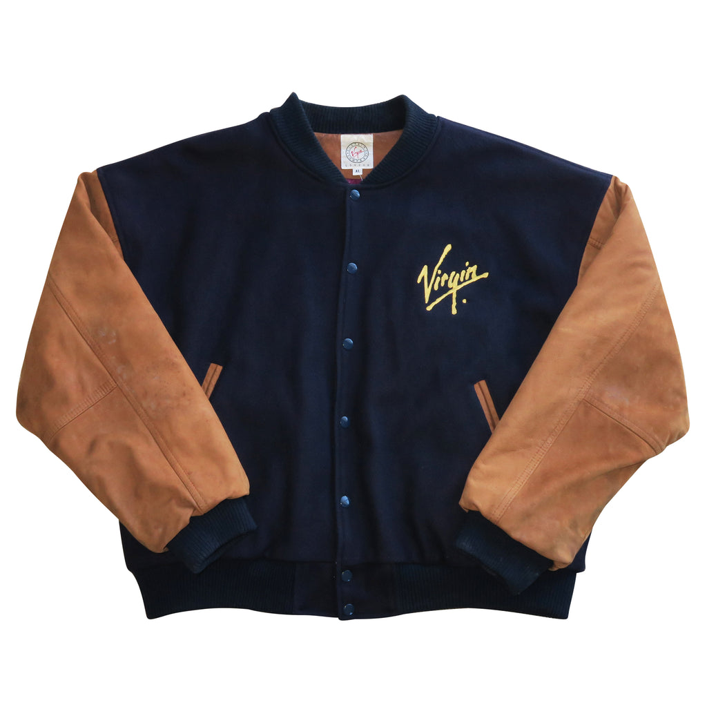 LA Virgin Airlines Retro Bomber (RARE) - Thriftfinds, NZ Vintage clothing store