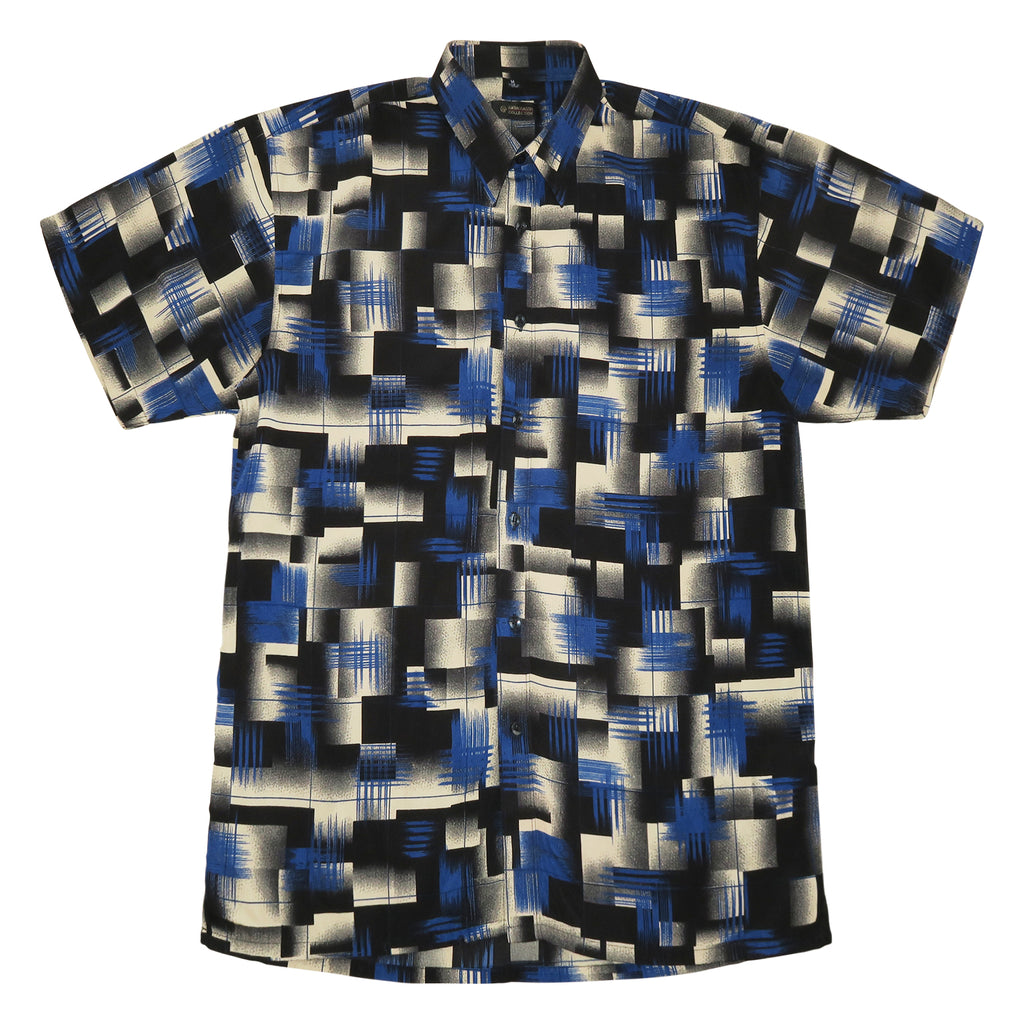 Abstract 90's Silk Shirt