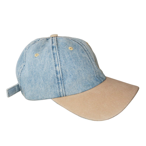 Denim W/suede Lip Hat