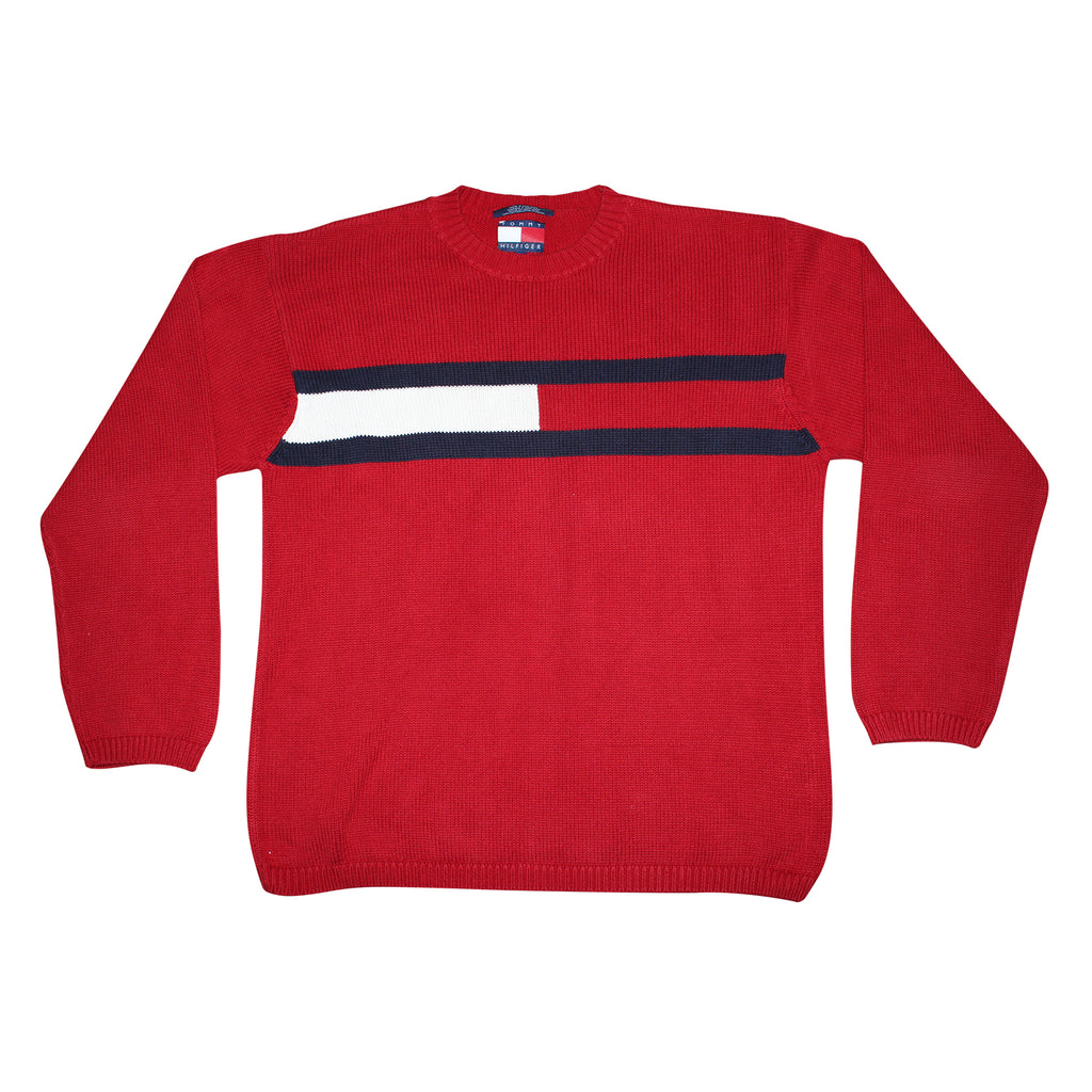 Tommy Hilfiger 90's Flag Sweater - Thriftfinds, NZ Vintage clothing store