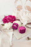 Fuchsia Velvet Ring Box