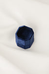 Navy Blue Velvet Ring Box