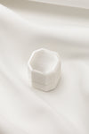 White Velvet Ring Box