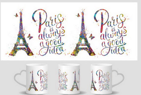 Tazza Magica Parigi che cambia colore con bevanda calda - Paris is always a good Idea