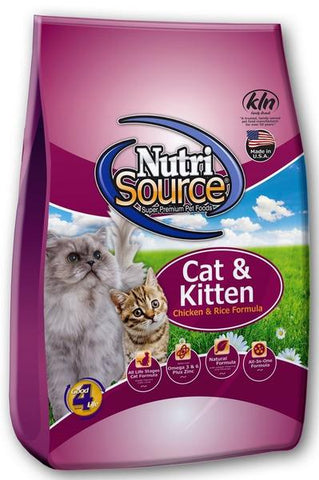 NutriSource® Cat & Kitten Chicken and Rice Dry Cat Food